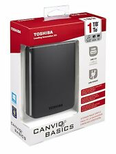 1TB Toshiba Canvio Basics 1 TB Mobile External Hard Drive External USB Disk HDD