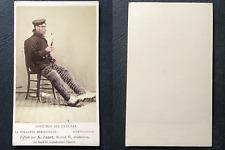 Jager, Amsterdam, Hollande méridionale, Homme de Scheveningue, circa 1870, aquar