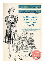 The Haslam System of Dresscutting No. 20 Rationing Era 1940's  - Copy