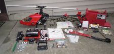 """Vintage """"X-Cell 30"""" Nitro R/C Helicopter Lot With Remote/Electronics/Accessories"""
