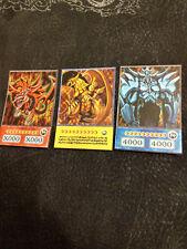 Yugioh Orica non holo Exodia the Forbidden one God card Slifer Ra Obelisk Dragon