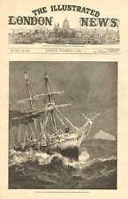 Royal Navy, HMS Alert, Homeward Bound, From The North Pole, 1876 Antique Print.