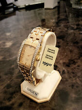 Bling! New, Men's Gruen watch, diamond, gold color, FREE SHIPPING