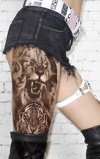XXL Temporäres Tattoo Tiger Löwe Lion Tiere Animal Big RIESIG Full Arm Einmal