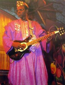 ALI FARKA TOURE color clipping African photo Malian blues guitar 1980s Bambara