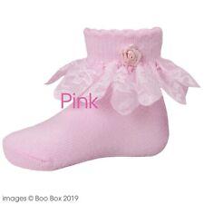 Recién Nacido Bebé Niña Niño Lindo tobillo calcetines altos de rotación Paquete de 2 0-3 meses de edad