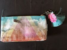 Canvas Women student Pen Pencil Case Passport Bag Cosmetic Makeup Bags Pouch Box