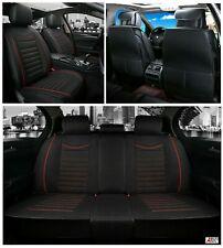 Black Car Seat Covers HQ Fabric Universal Washable Dog Pet Protector Full Set