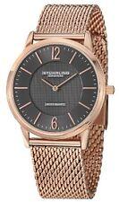 """Stuhrling Men's 122 334454 """"Ascot Somerset Elite"""" Analog 16k Rose Gold Watch"""