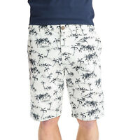 Mens Chino Cotton Shorts Threadbare Summer Beach Palm Tree Print