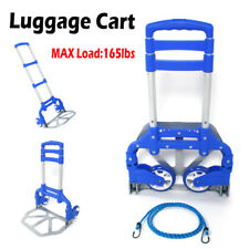 Portable Luggage Cart Folding Truck Hand Collapsible Trolley For Travel Shopping