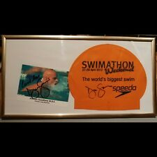 Olympic Swimmer Duncan Goodhew Signed Speedo Swimathon Swimming Cap & Photo