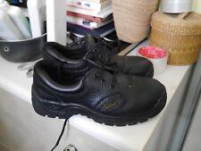 Worktough 201SM Nera in Pelle Sicurezza Lavoro Scarpe Acciaio Puntale Sole UK 6
