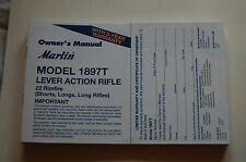 Marlin Model 1897T Lever Action Rifle 22 Rimfire Short Longs Rifle Owners Manual
