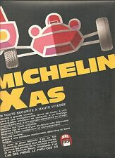 PUBLICITE MICHELIN Pneus X As En Toute Sécurité à Haute Vitesse    / 1969