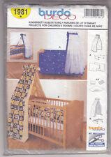 Patron Burda deco N°1981 parures pour lit d'enfant