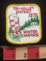Vtg 1970 TRI-VALLEY DISTRICT WINTER CAMPOREE Boy Scout BSA Patch 74GG