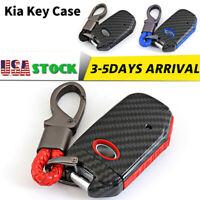 Carbon Silicone Car Remote Key Cover Case fob For Kia Sorento Sportage Stinger
