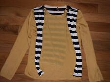 Sweewe Paris Yellow Top With Navy Strips Back S/M