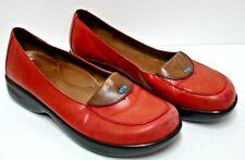 Women's Dansko Leather Shoes Burnt Orange Loafers Size 8.5 US 39 Euro Free Ship