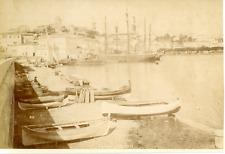 N.D, France, Cannes, le port Vintage albumen print, Tirage albuminé  12x17
