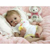 Unpainted Reborn Baby Kit Soft Vinyl Head + 3/4 Limbs Realistic Blank Doll Kits