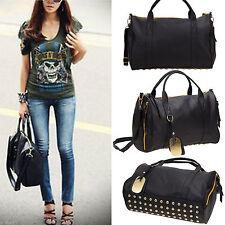 Fashion Rivet Women Handbag Shoulder Bags Tote Purse Leather Messenger Hobo Bag