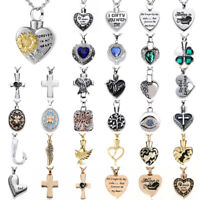 Steel Keepsake Memorial Urn Pendant Necklace Cremation Jewelry for Ashes