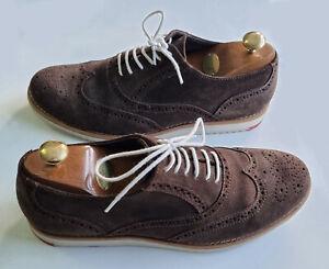 Men's KURT GEIGER Premium Brown Suede Lace Up BROGUE Shoes EU 43 UK Size 9 *VGC*