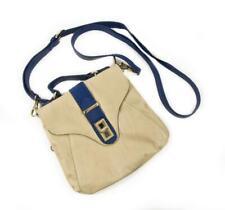 New!! ~HILARY RADLEY New York~ Beige & Royal Blue Messenger Crossbody Bag