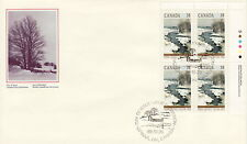 CANADA #1256 38¢ CHRISTMAS WINTER LANDSCAPES UR PLATE BLOCK FIRST DAY COVER