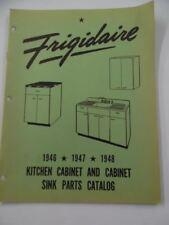 1946-48 FRIGIDAIRE Kitchen Cabinet &Sink Appliance Parts Catalog SER-497 Vintage