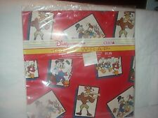 DISNEY AFTERNOON CLEO 1986 DUCK TAILS CARTOON FLAT GIFT WRAP WRAPPING PAPER PACK