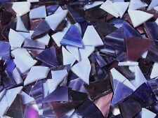 """100g - Mixed Purples O"" Handcut Stained Glass for MOSAIC & Glass Crafts"