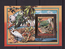 timbre en OR  Comores  bloc  scoutisme nature oiseaux peroquet  nd   **