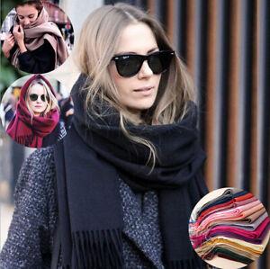 Women Lady Winter Warm Scarf Cashmere Long Wrap Shawl Knit Scarf Hot Pashmina UK