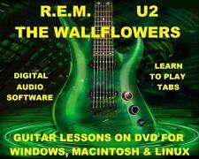 REM 240 & U2 326 & The Wallflowers 87 Guitar Tabs Software Lesson CD & 236 BTs