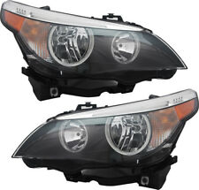 Halogen Headlights Headlight Assembly Pair Set for 04-07 BMW 525i 530i 550i