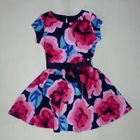 Gymboree Girls Ponte Floral Dress Size 4 7-8 NWT