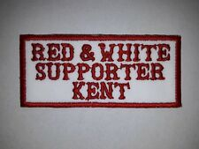 NEW Hells Angels Kent Red & White Supporter Embroidered Sew On Patch Support 81
