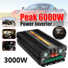 3000W/6000W PSW Pure Sine Wave Power Inverter DC12V to AC 220V Converter LED IT