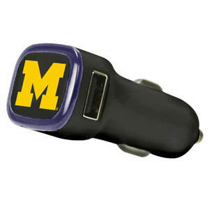 Michigan Wolverines Car Charger - Black