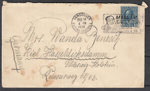 Canada Scott #115 Cover Dec 18, 1928 Vancouver BC  to Germany **