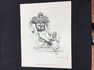 1981 Shell Oil Co Nick Galloway Harry Carson New York Giants 11x14 Inch Print