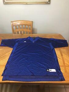 University of Kansas Jayhawks Football Jersey Adidas Shirt T-shirt Large and 3XL