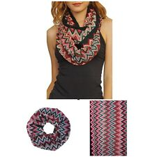 Fall/Winter New Woman COLORFUL CHVERON KNIT INFINITY SCARF