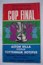 Orig.PRG  ENGLAND League Cup  FINALE 1971  ASTON VILLA - TOTTENHAM HOTSPUR ! TOP