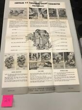 NOS Chrysler Dodge Plymouth Desoto poster Master Tech training V-8 Firepower