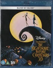 The Nightmare Before Christmas Disney Blu-Ray 3D + Blu-Ray 2D _ New Sealed