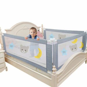 Bed Barrier Fence Safety Guardrail Security Foldable Baby  Bed Gate Crib Rails
